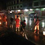 Pemkab Aceh Tamiang Cuci Jalan di Kota Kualasimpang